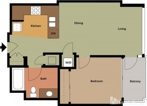 Pinnacle on the Park rentals san diego floorplans