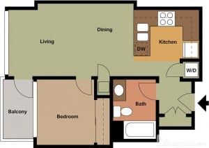Pinnacle on the Park rental floorplans