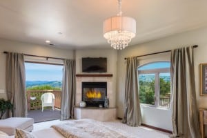 Carmel Valley Home For Rent with fireplace